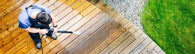 Pressure washing your Airbnb deck
