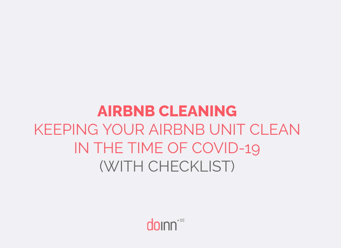 CHECKLIST AIRBNB CLEANING