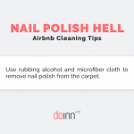 Airbnb cleaning - Nail polish hell