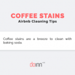 Airbnb cleaning - coffee stains