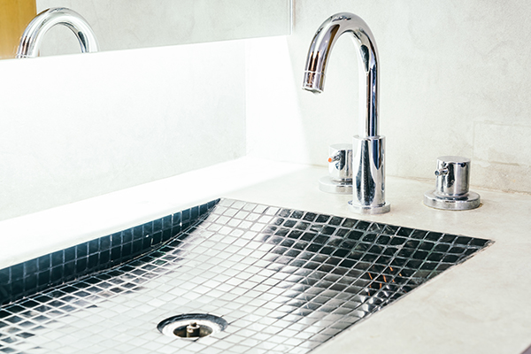 Faucet and sink decortaion in bathroom interior - Vintage filter